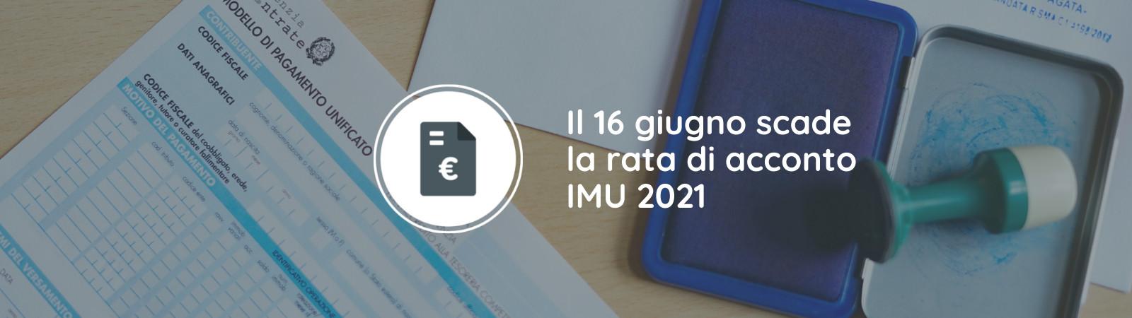 Scadenza acconto IMU 2021