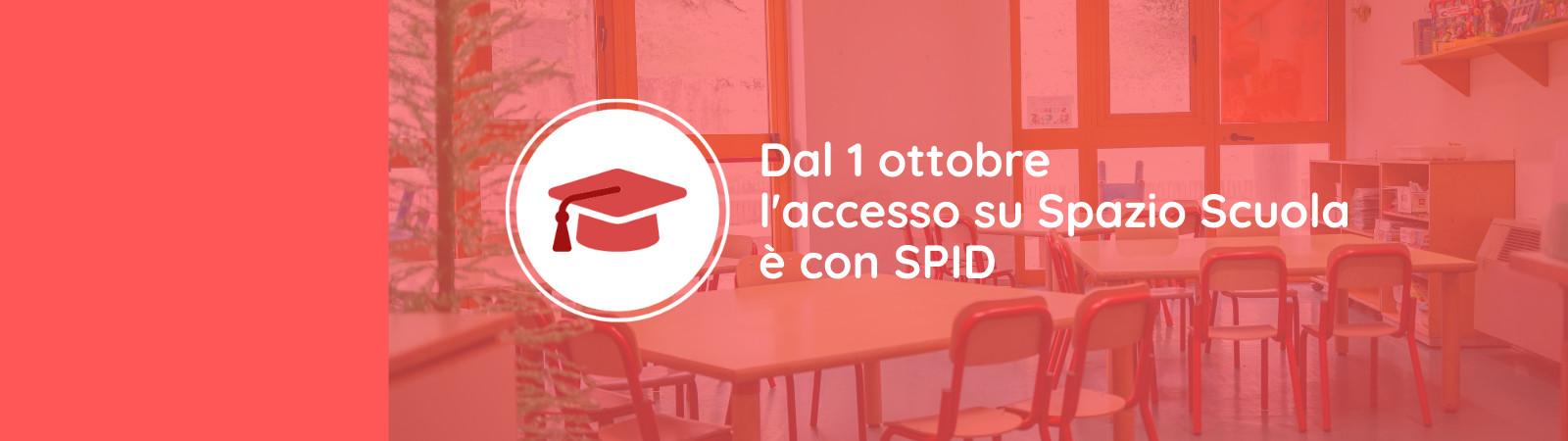 Spazio scuola: dal primo ottobre l'accesso è con Spid