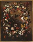 Bartolomeo Bimbi, Ghirlanda di fiori con rondini