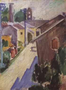 Ardengo Soffici, Paesaggio a Chiavris