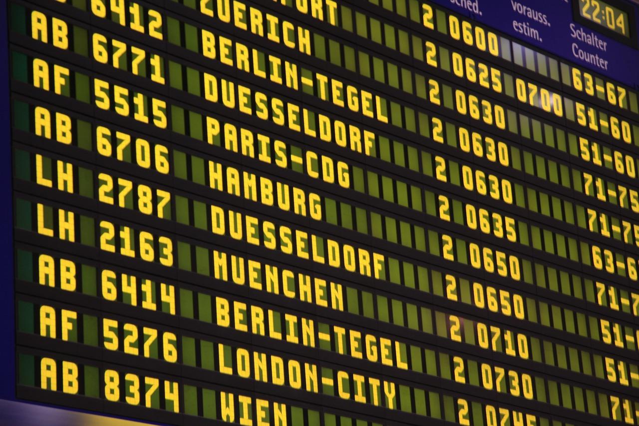 Tabellone aereoporto