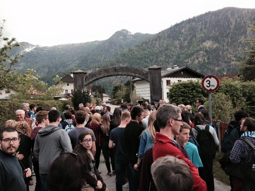 L'ingresso del campo di sterminio di Ebensee