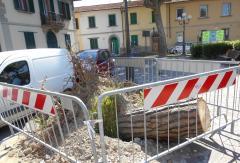 Danni tempesta 5 marzo piazza XX Settembre