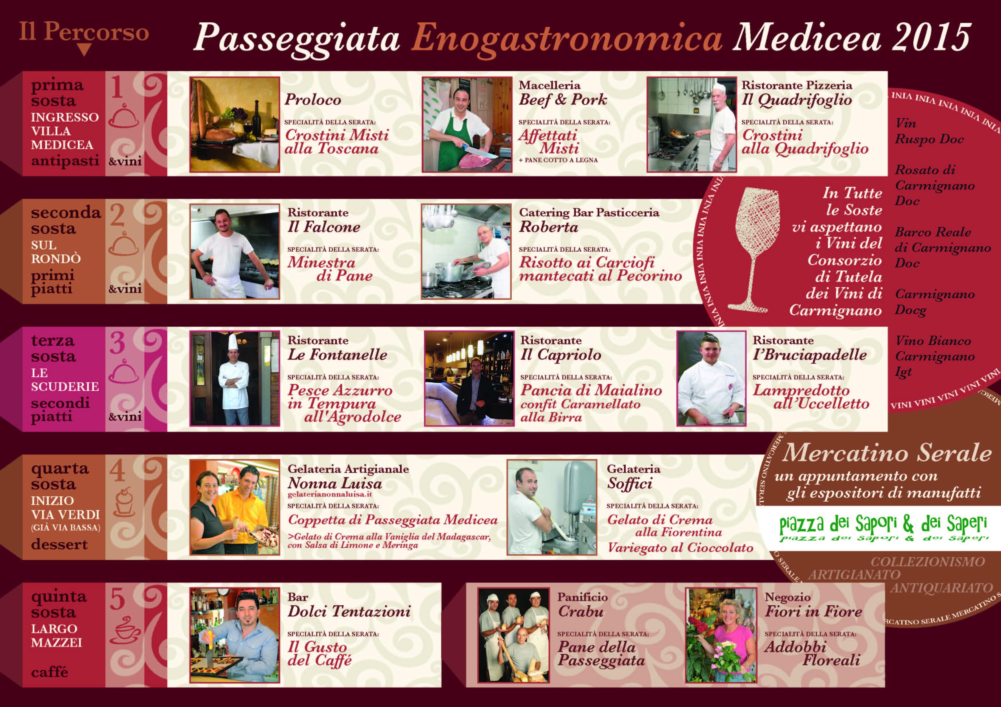 Passeggiata Enogastronomica Medicea - pieghevole i