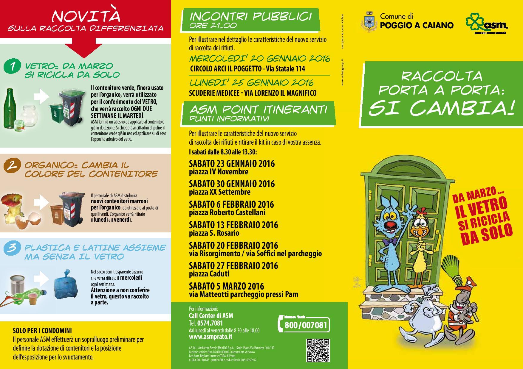 Calendario Alia Prato.Raccolta Monomateriale Del Vetro Al Via Da Marzo Comune