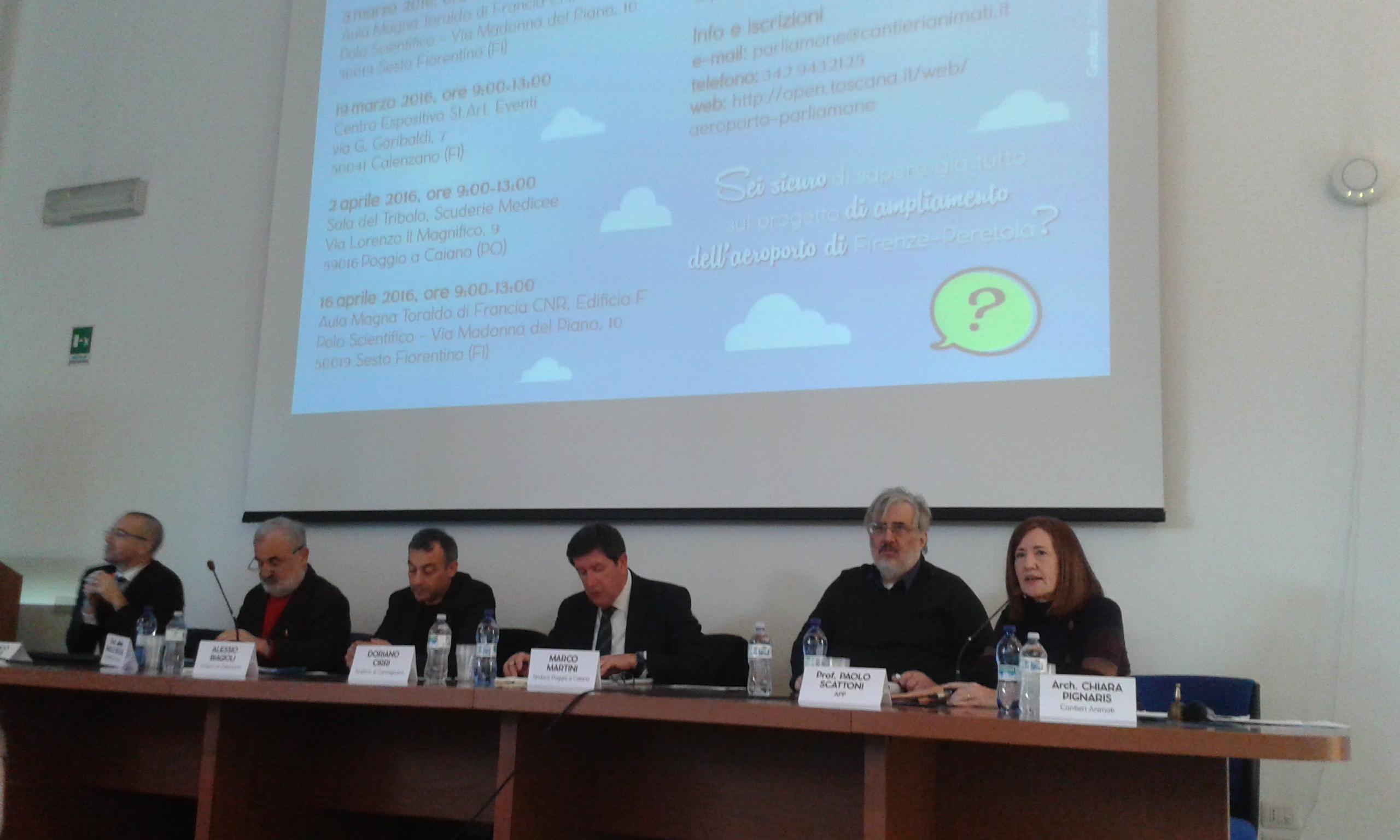 Aeroporto parliamone, i relatori introducono il primo incontro