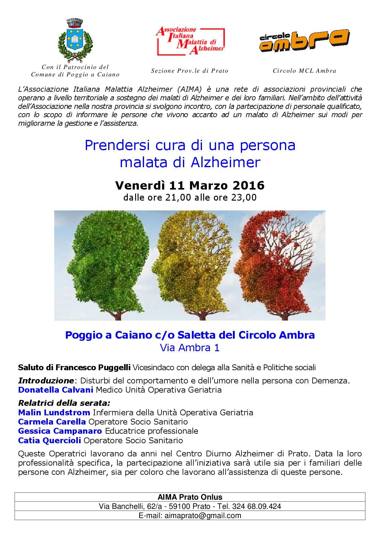 Locandina dell'incontro dell' 11 marzo