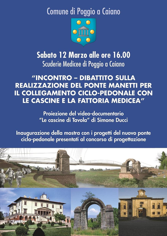 La locandina dell'incontro-dibattito sul ponte Manetti