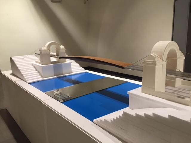 Il plastico del progetto del nuovo ponte Manetti