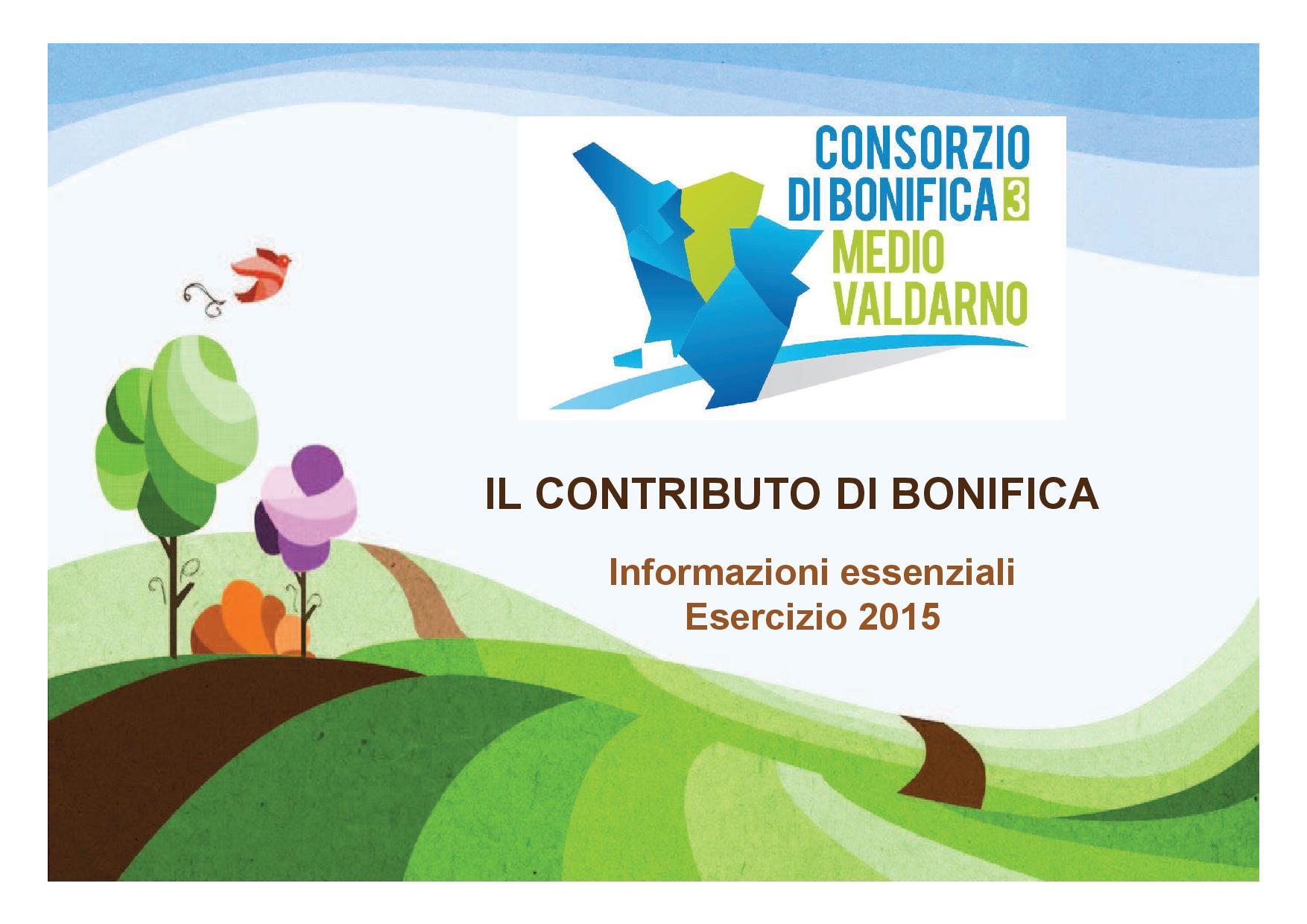 Il logo del contributo di bonifica per l'anno 2015