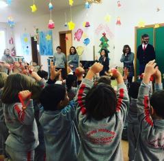 Puggelli e Ganucci portano gli auguri alle scuole