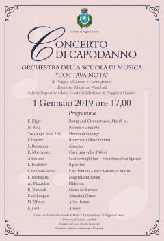 Programma concerto 1 gennaio 2019
