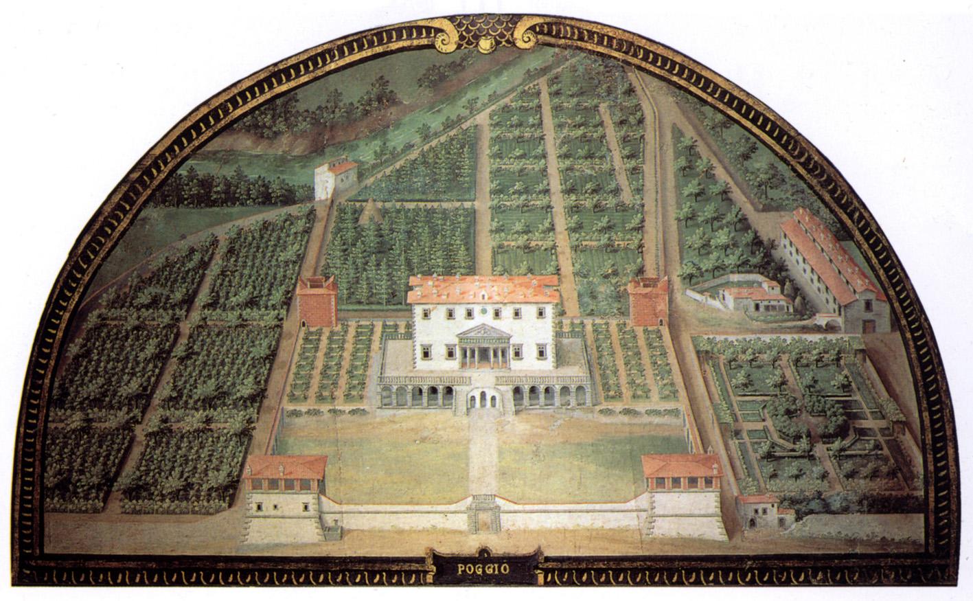 La mappa della Villa