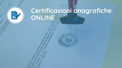 3 Certificati anagrafici online