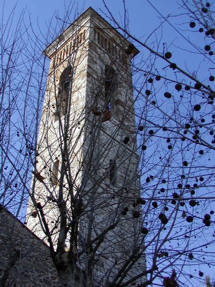 Il campanile della chiesa di Santa Maria del Rosario