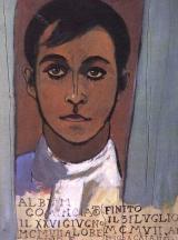 Album di studi (foglio 46, Autoritratto), 1907